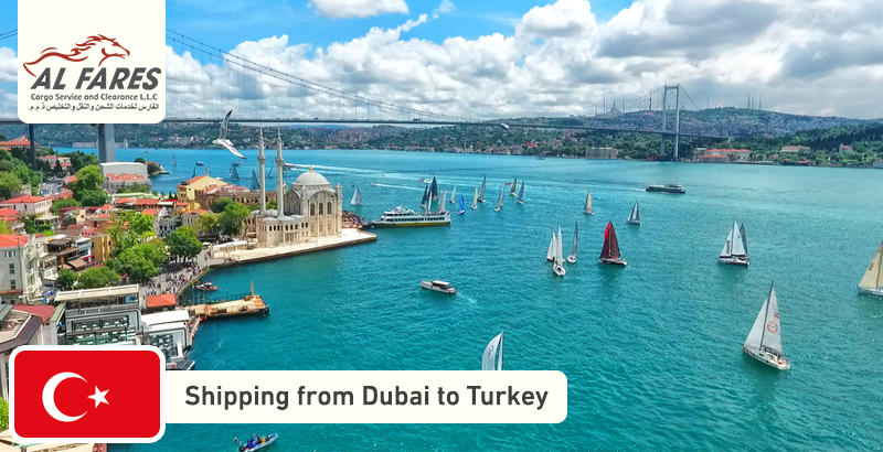 Shipping from Dubai to Turkey