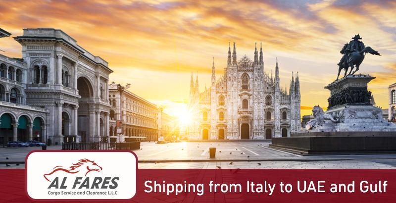 Shipping from Italy to Dubai