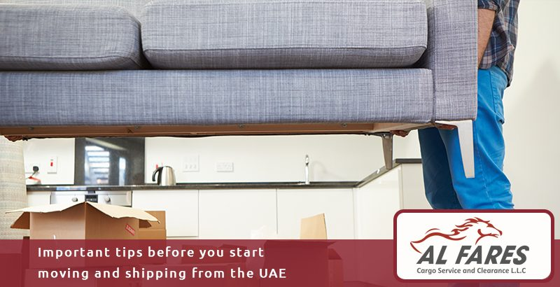 Important tips before you start moving and shipping from the UAE