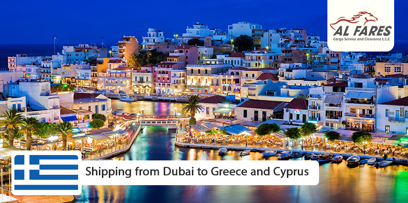 Shipping from Dubai to Greece and Cyprus