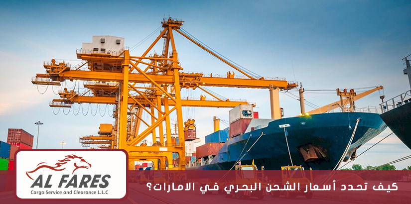 كيف تحدد أسعار الشحن البحري في الامارات؟