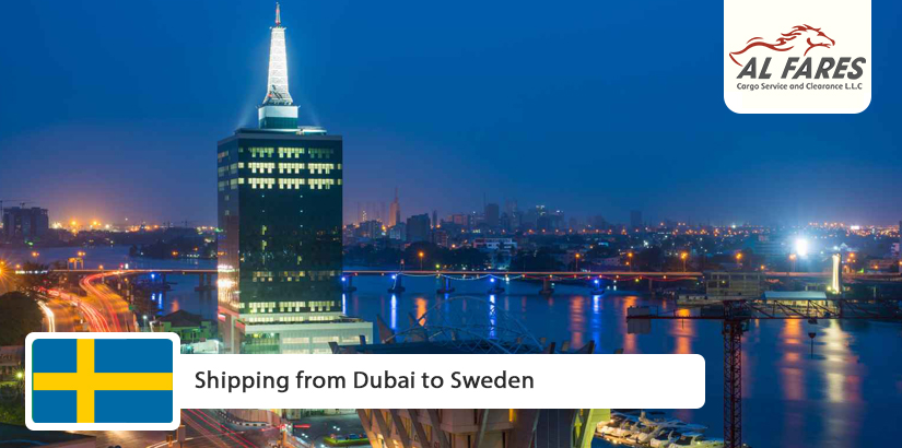 Shipping from Dubai to Sweden