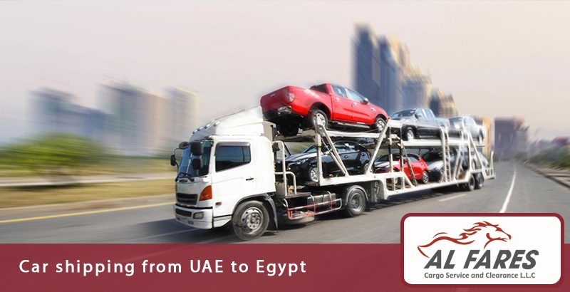 Car shipping from UAE to Egypt