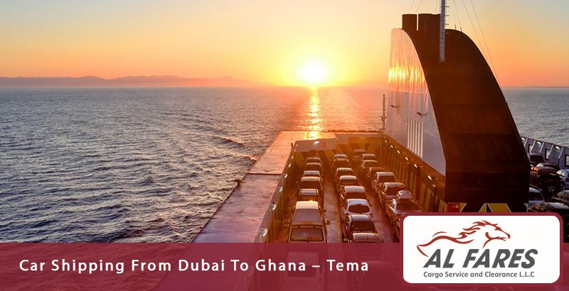 Car shipping from Dubai to Ghana - Tema