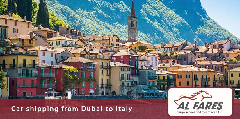 Car shipping from Dubai to Italy